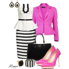 """""""Striped Pencil Skirt Contest"""" by anna-campos on Polyvore"""