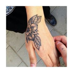 15 Beautiful Hand Tattoos for Both Men and Women ❤ liked on Polyvore featuring mens and tattoos
