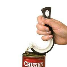 You can open ring-top cans! Ring Pull Can Opener gives you the leverage you need. #Arthritis
