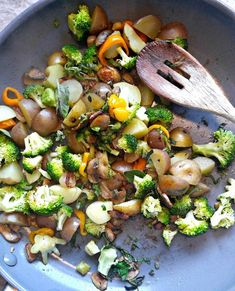 Add potatoes and bacon to the vegetable mixture.
