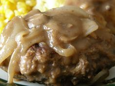 Salisbury Steak With Mushrooms and Onion Gravy
