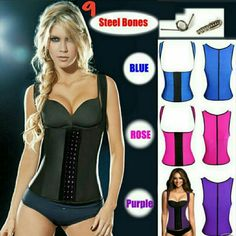 3 Hooks Vest Corset Latex Waist Trainer, 100% late Latex Vest Waist Trainer Blet Waist Training Vest Hot Body Shaper Waist Cincher And Waist Training Corsets 9 steel boning.  An instant slimmer  waistline reduction of up to 3 dress sizes Compressed and controlled back fat and bra bulge firm and flatter weight loss of up to 4 dress sizes in 6 weeks Postpartum figure restoration under-bust lift stronger core Reduced lower back pain  corrected and more confident posture Other