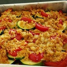 A simple vegetable dish that highlights the summer flavors of fresh tomatoes and zucchini. It goes great with grilled meats or poultry.
