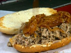 BBQ Pulled Pork with Carolina Sauce recipe from Diners, Drive-Ins and Dives via Food Network