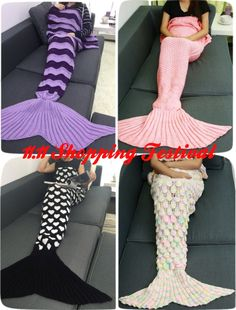 Shop blankets & throws sale at wholesale cheap discount price and fast delivery, and find more best knitted blanket, throw blankets & bulk blankets and throws online with drop shipping. Crochet Mermaid Blanket, Crochet Mermaid Tail, Mermaid Tail Blanket, Mermaid Tails, Knitting Projects, Crochet Projects, Free Crochet, Knit Crochet, Knitting Patterns