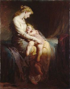 Mother and Child by George Elgar Hicks, Oil on Canvas