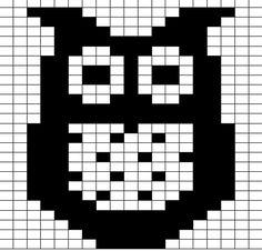 Ravelry: owl chart pattern by Jo Ryan