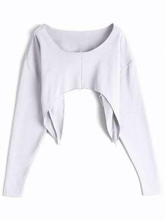 Asymmetric Streetwear Cropped Sweatshirt