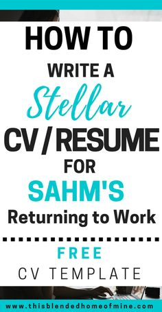 How to Write a Stellar CV for SAHMs Returning to Work. This Blended Home of Mine Career, Career Advice, Resume Cv Writing Tips, Resume Writing Examples, Free Resume Examples, Business Writing, Cover Letter Tips, Cover Letter Example, Cover Letter For Resume, Cover Letters, Cv Tips