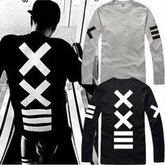 2016 Nuevo Impreso Hombres de Manga Larga de Fitness Camiseta de Hip Hop  Harajuku Camiseta Streetwear Punky de la Roca Camiseta TS2014006 en  Camisetas de ... 8891577256620