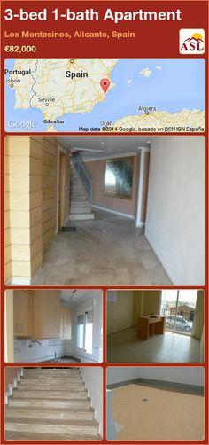 3-bed 1-bath Apartment in Los Montesinos, Alicante, Spain ►€82,000 #PropertyForSaleInSpain