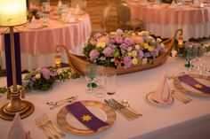 Rapunzel themed centerpiece