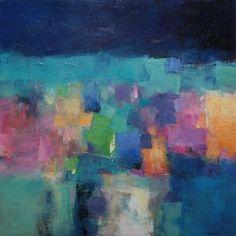 "June 2012 - 2 - Original Abstract Oil Painting - 72.7 cm x 72.7 cm (app. 28.6"" x 28.6""). $800.00, via Etsy."