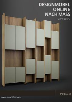 Die Design-Regale von MOBILAMO können ganz einfach nach Ihren Vorstellungen konfiguriert werden.   Sie bestimmen die genauen Maße, die Aufteilung und die Materialien. Wir fertigen Ihr Massregal und liefern dieses zu Ihnen nach Hause. Geht doch!