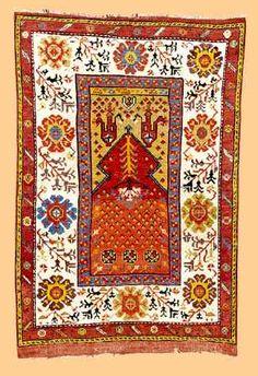 Turkish Rugs   Antique Turkish Rugs: Konya Prayer Rug 1st half 19th Century Lot 81