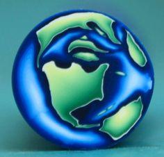 Bastón de círculo de arcilla de polímero pequeño planeta