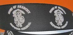 Sons of Anarchy SOA 1 inch grosgrain Ribbon