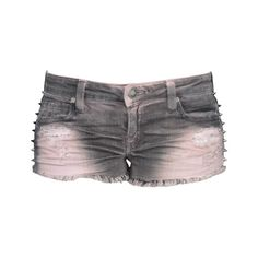 Frankie B Underworld Short in Dirty Pink ($150) ❤ liked on Polyvore featuring shorts, bottoms, pants, jeans, zipper shorts, short shorts, frankie b shorts, sexy shorts and frankie b.