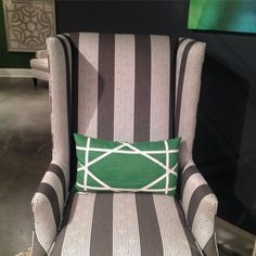 A Menswear Take on a Classic Wingback Chair — High Point Fall Market 2013 Apartment Therapy #HPMKT #StyleSpotter Janel Laban