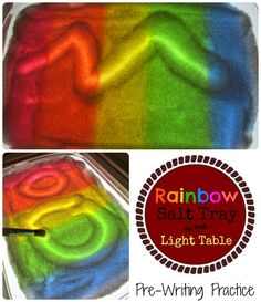 kids learning, light table activities, salt tray, light tables, light table ideas, preschool table activities