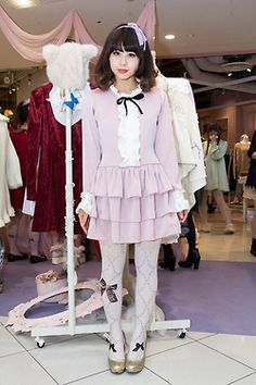 Adorable girl...maybe Cult Party Kei inspired?