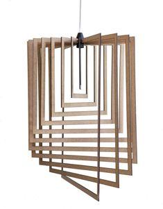 AssembLIT range of laser cut wooden light fittings : easy self assemble Light Fittings, Light Fixtures, Electrical Stores, Bedside Lighting, Wooden Lamp, Light And Shadow, Pendant Lighting, Bulb, House Design