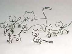 cats wire sculpture