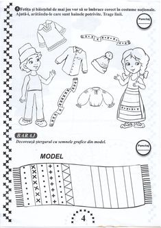 Pin by tatiana corciovei on romania's day/ziua romaniei Kids Math Worksheets, Kindergarten Activities, Preschool Activities, Math For Kids, Diy For Kids, Minnie Mouse Coloring Pages, Living At Home, Holidays And Events, Projects For Kids