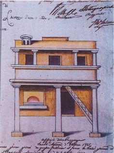 Άδεια κατασκευής φούρνου & σκάλας. 05/10/1835. Έργο του Σπύρου Βεντούρα. (1761-1835).