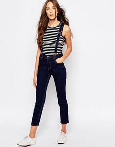 ASOS Skinny jeans with suspenders