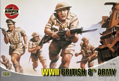 """#PopularKidsToys Just Added In New Toys In Store!Read The Full Description & Reviews Here - Airfix A01709 WWII British 8th Army 1:72 Scale Series 1 Plastic Figures - Commonly known as the """"Desert Rats"""", the 8th Army figures are wearing their shorts and steel helmets in this 48 piece set. Included are mine detectors, machine gunners and riflemen..Specification: Model Scale 1:72 Number of Parts 48 Skill Level 1 Flying Hours 1 Requires Painting Yes Age 8+ Airfix Worl"""