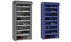 Whether tucked inconspicuously into a corner or standing in an entryway, this portable shoe closet holds enough pairs for all seasons