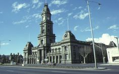 Collingwood Town Hall before they planted the bloody trees !