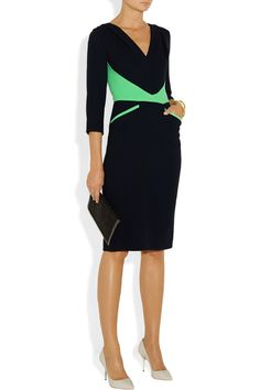 ROKSANDA ILINCIC Murdock wool-blend crepe dress, Maiyet cuff, Maison Martin Margiela ring and ring, Sophia Webster shoes, Stella McCartney clutch.