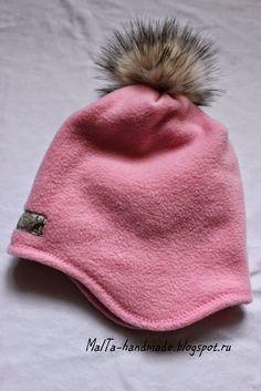 malta-handmade: Флисовая шапка с выкройкой Free pattern of fleece hat