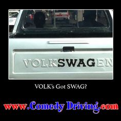 Got SWAG?  #comedy #onlinedefensivedriving #defensivedriving  #defensivedrivingtexas  #safedriving  #safedrivingtexas  #trafficschool  #trafficschooltexas #followme  #swag #gotswag #vw #volkswagon  http://www.comedydriving.com/