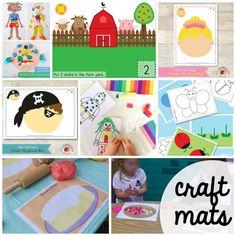 100-FREE-Playdough-Mats.-Fun-craft-mats-math-activities-and-literacy-activities.-Great-for-preschool-and-kindergarten..jpg (2000×2000)