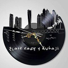 Golden Dubaj - vinyl clocks - 6566700_
