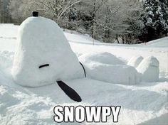 Snoopy in snow.just because I love Snoopy