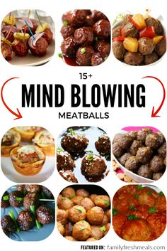 I have no idea who first invented the idea of grinding up meat and making it into balls. Meatballs are one of Family Fresh Meals, Easy Family Meals, Quick Easy Meals, Curry Recipes, Meat Recipes, Crockpot Recipes, Meatloaf Recipes, A Food, Good Food