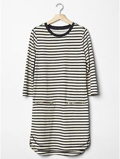 Stripe zip-pocket shirttail dress | Gap