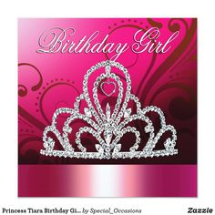 Shop Princess Tiara Quinceanera (orange) Invitation created by Special_Occasions. Personalize it with photos & text or purchase as is! Happy Birthday Card Messages, Birthday Wishes For Her, Happy Birthday Quotes, Birthday Greetings, Happy Birthday Auntie, 123 Greetings, Happy Birthday Princess, Wishes Messages, Birthday Tiara