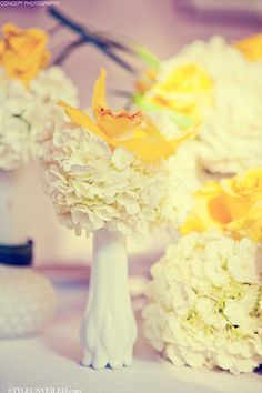 Yellow and White Vintage Tablescape / Concept Photography / www.STYLEUNVEILED.com