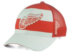 NHL Reebok Detroit Red Wings Ice Basket Adjustable Cap