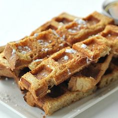 A fun spin on regular French Toast - turn them into waffle sticks! Perfect for dipping into your favorite syrup. Waffle Stick Pan Recipe, Waffle Pan, Waffle Sticks, Waffle Recipes, Recipes Breakfast French Toast, French Toast Waffles, French Toast Sticks, Breakfast Snacks, Savory Waffles