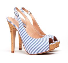 Slingback platform heels