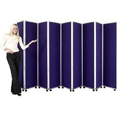 Concertina 9 Panel Mobile Display & Room Dividers  www.officefurnitureonline.co.uk