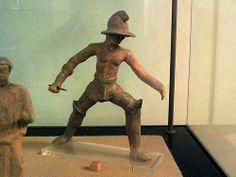 Gladiator Terracotta. Museo Nazionale Archeologico di  Taranto