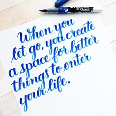 Use your brush pens to write a motivational quote as home decor for daily inspiration and practice.