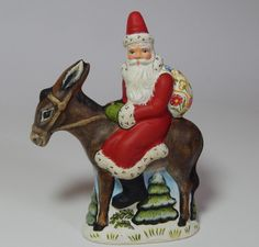 Available: New 2015 Chalkware Belsnickle Santa from Bittersweet House Folk Art Www.bittersweethouse.com